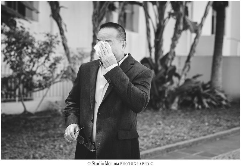 san diego wedding photography, san diego elopement, san diego small wedding, san diego courthouse wedding, dad crying at wedding, emotional wedding