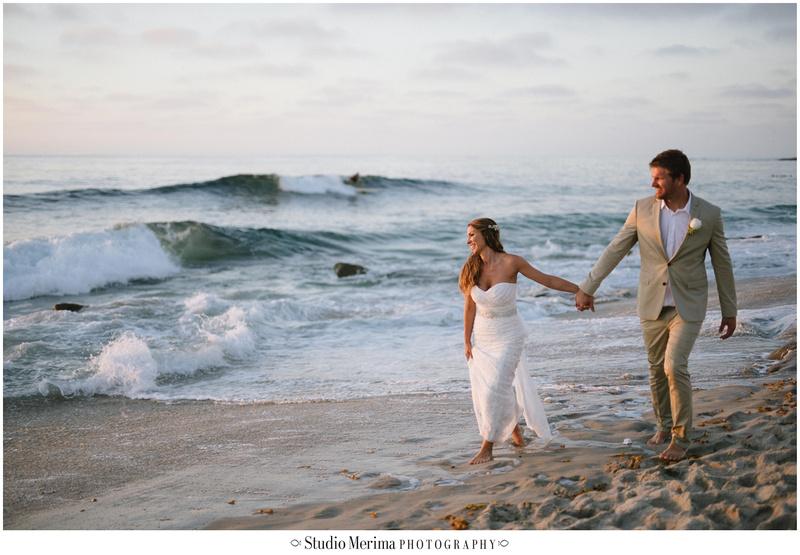 la jolla wedding photography, windansea small wedding, windansea wedding portraits, beach wedding photography, san diego beach wedding photography, bride and groom walking