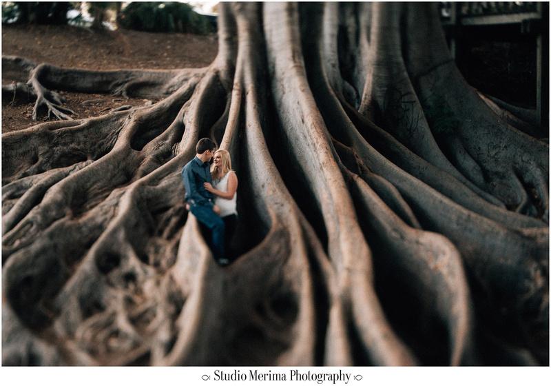 balboa park proposal, museum of man tower, san diego engagement, tilt shift photography