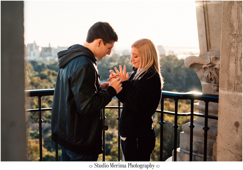 balboa park proposal, museum of man tower, san diego engagement