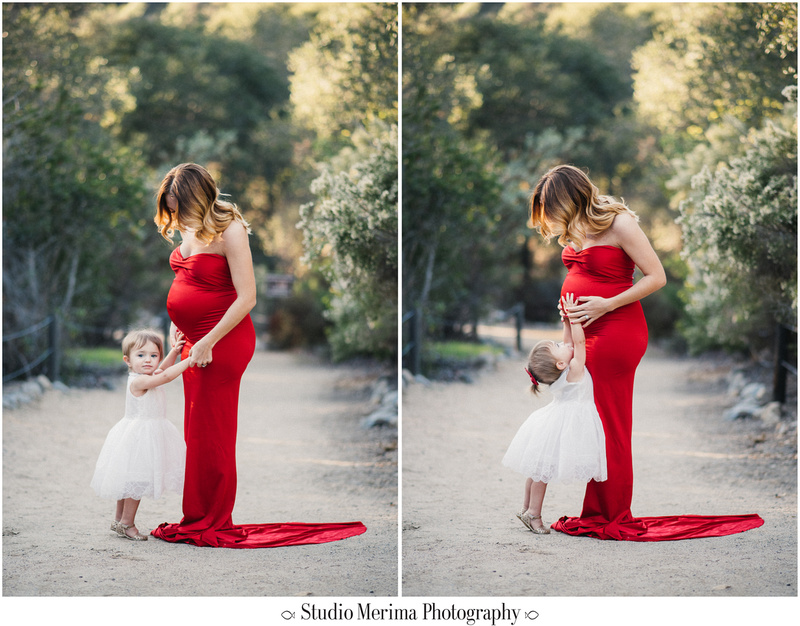 elfin forest family photography, san diego forest photography, san diego family photographer, baby touching belly, san diego maternity, elfin forest maternity