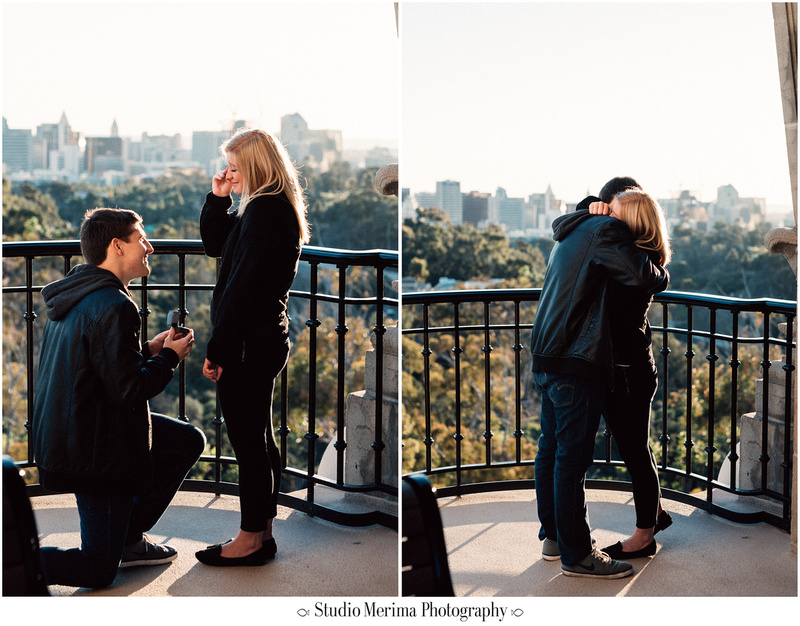 balboa park proposal, museum of man tower, san diego engagement, crying proposal, romantic proposal