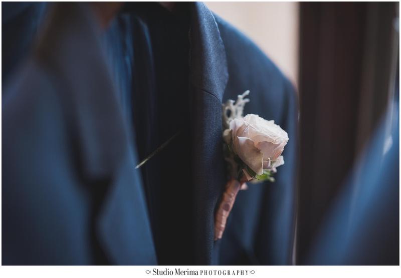 la jolla wedding photography, la valencia hotel wedding photography, groom's boutonniere, groom's suite