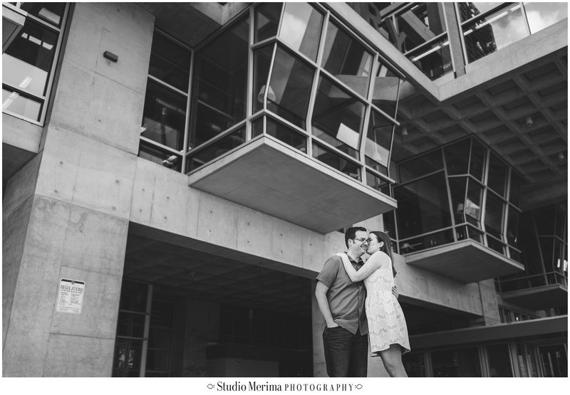 san diego library engagement, downtown engagement, san diego engagement photographer
