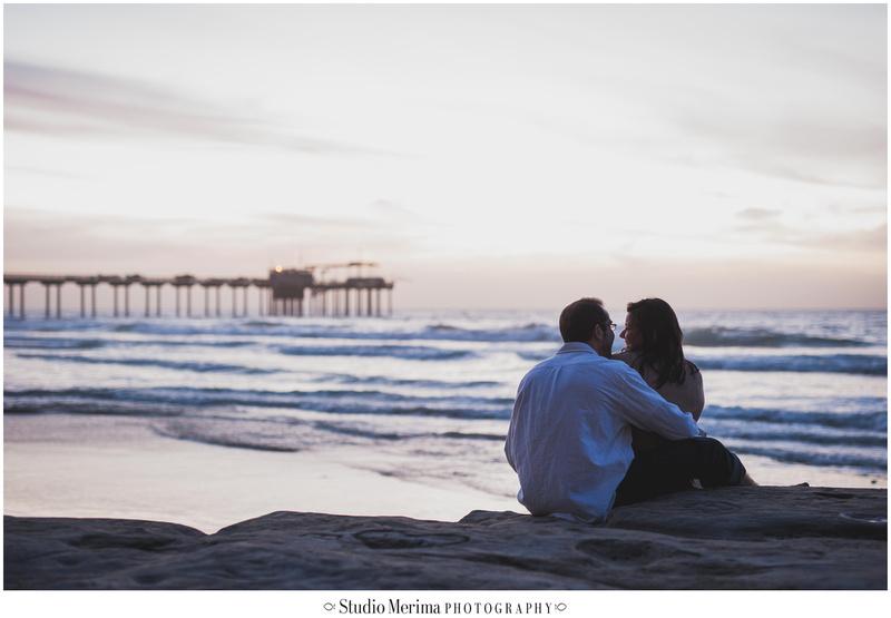 'scripps pier sunset engagement photography' 'romantic engagement photography' 'silhouette scripps pier' 'la jolla sunset engagement photography'