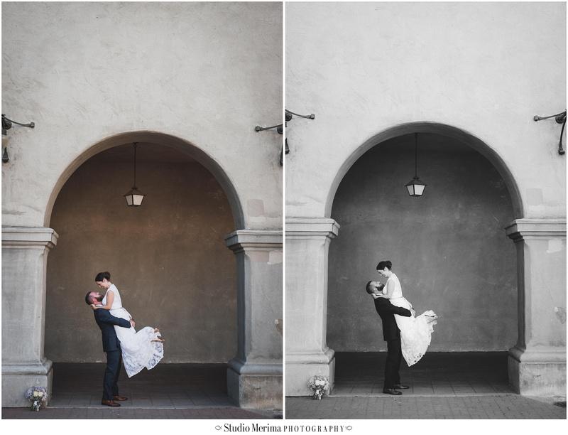 """""""Balboa Park Arches Wedding Photography"""" """"Alcazar Garden Wedding Portraits"""""""