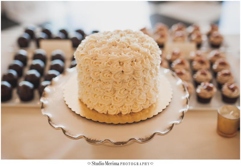 la valencia hotel wedding, la valencia hotel reception, small wedding cake