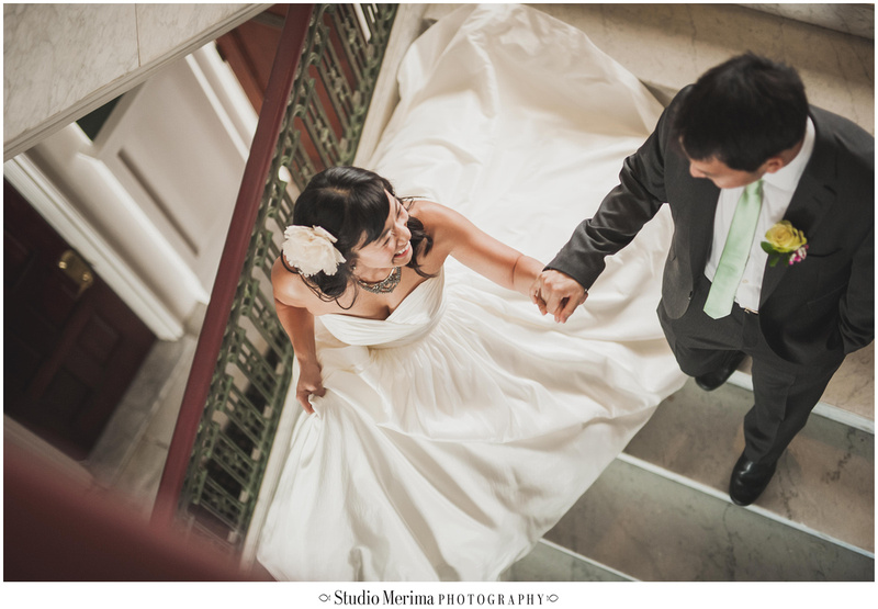 glorietta bay inn wedding, stairs wedding photography