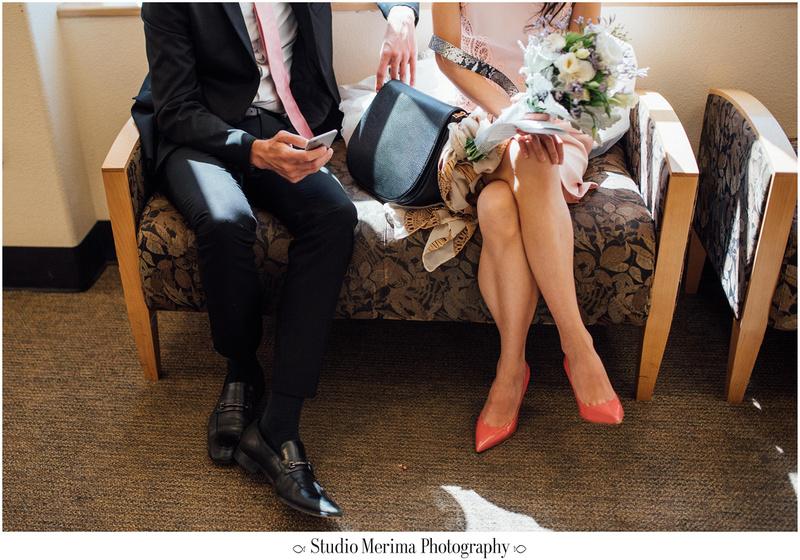 """san diego courthouse elopement"", ""san diego small wedding"""