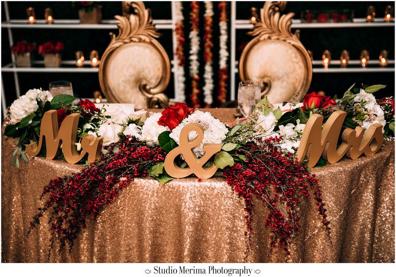 """indian wedding"", ""filipino wedding"", ""san diego wedding photographer"", ""studio merima"", ""rancho bernardo inn wedding"", ""gold mr and mrs sign"""