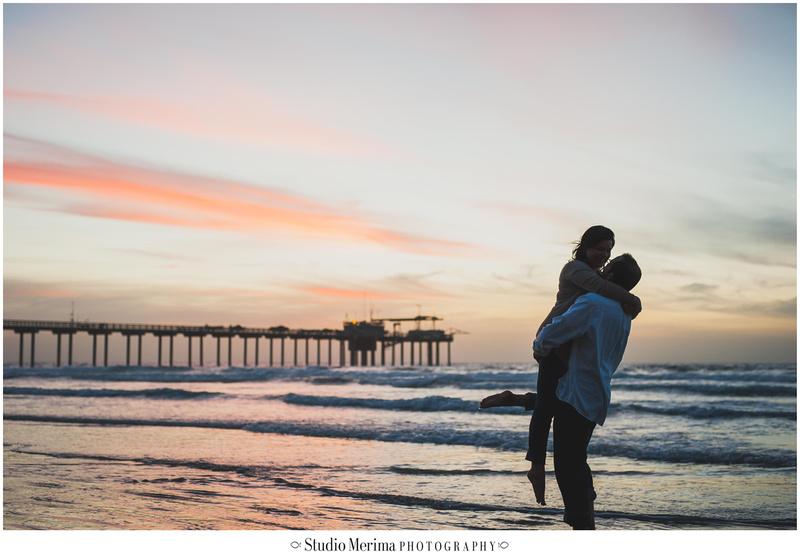 'scripps pier sunset engagement photography' 'sunset engagement photography' 'silhouette scripps pier' 'la jolla sunset engagement photography'