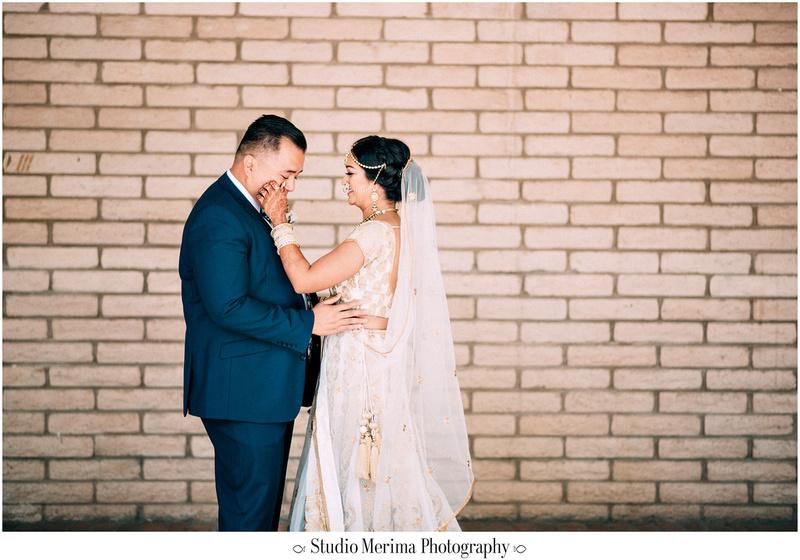 """indian wedding"", ""filipino wedding"", ""san diego wedding photographer"", ""studio merima"", ""rancho bernardo inn wedding"", ""first look tears"", ""first look"""