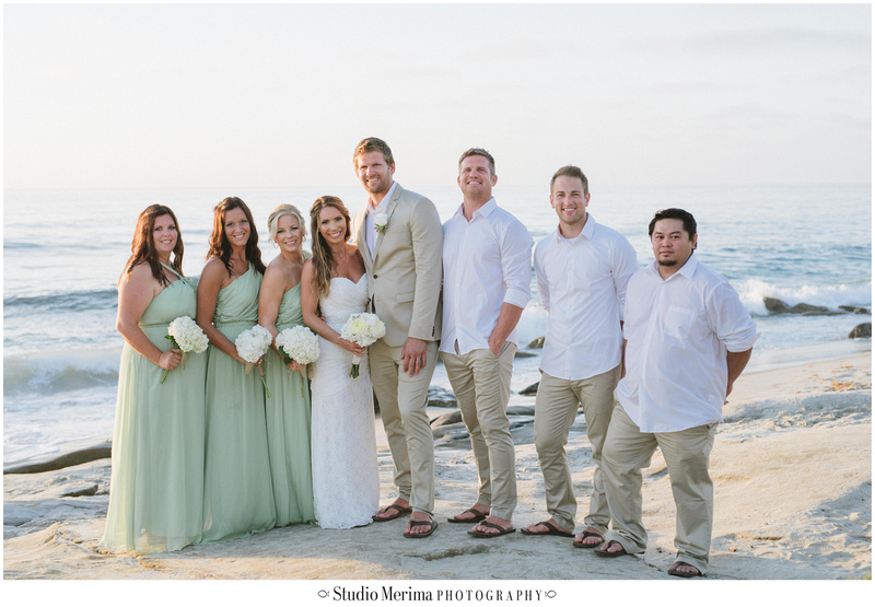 la jolla wedding photography, windansea small wedding, windansea bridal party