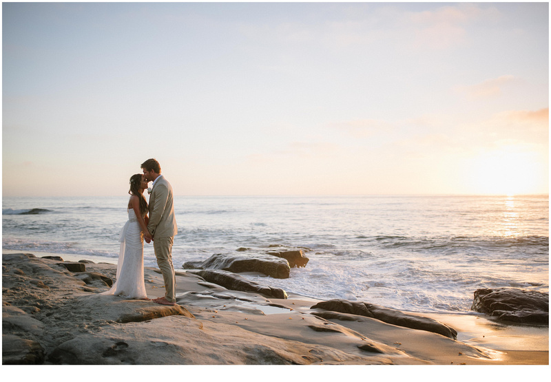 La Jolla Wedding Photography Windansea Small Portraits Sunset Beach