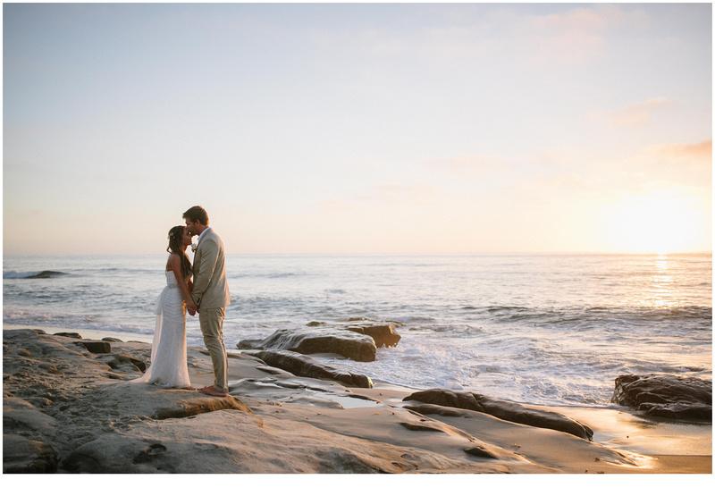 la jolla wedding photography, windansea small wedding, windansea wedding portraits, sunset beach wedding photography, san diego beach wedding photography, bride and groom walking