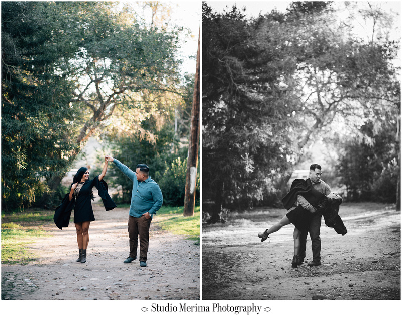 goofy engagement, dancing engagement photography, morley field photographer, romantic engagement photographer, san diego couples photographer, morley field engagement