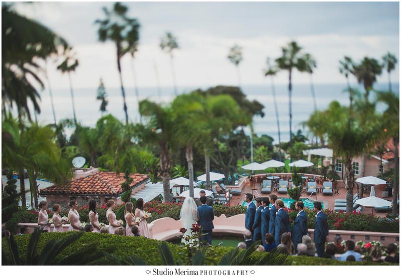 la valencia hotel wedding, la jolla wedding, la valencia hotel wedding ceremony, tilt-shift wedding photography