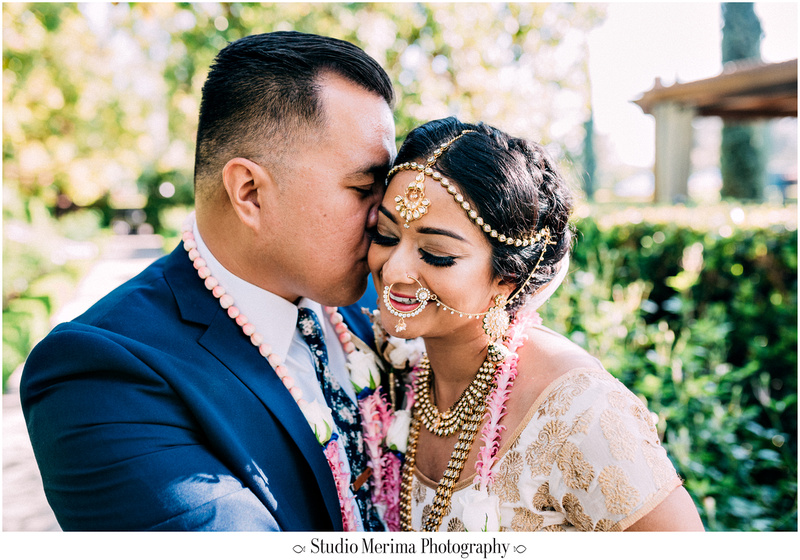 """indian wedding"", ""filipino wedding"", ""san diego wedding photographer"", ""studio merima"", ""rancho bernardo inn wedding"", ""elaborate indian wedding jewelry"", ""large indian nose ring"", ""romantic wedding portraits"""