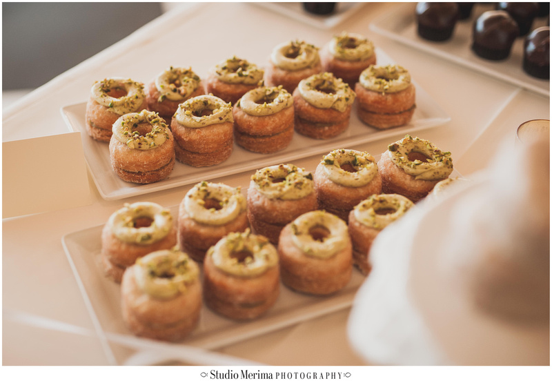 la valencia hotel wedding, la valencia hotel reception, wedding doughnuts