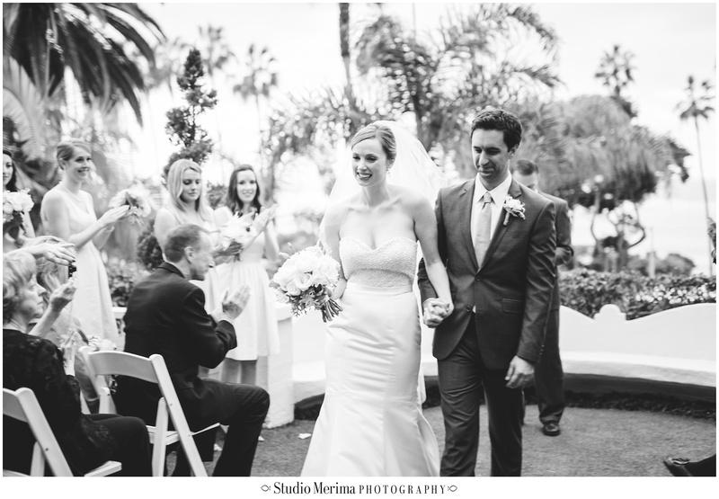 la valencia hotel wedding, la jolla wedding, la valencia hotel wedding ceremony, walking down the aisle