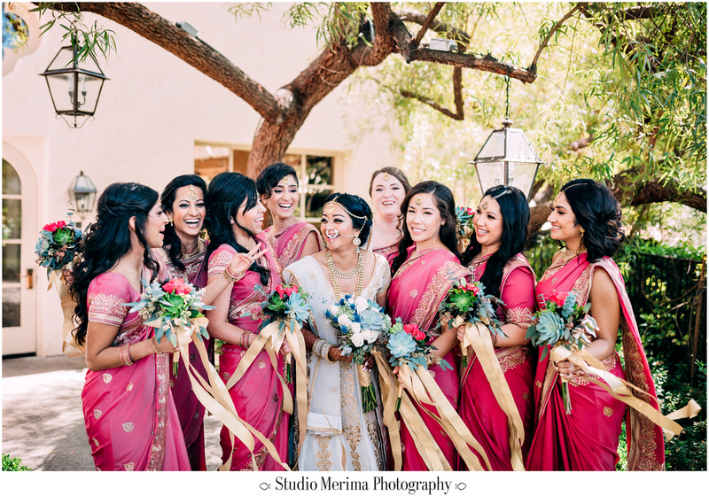 """indian wedding"", ""filipino wedding"", ""san diego wedding photographer"", ""studio merima"", ""rancho bernardo inn wedding"", ""pink bridesmaids dresses"", ""indian bridesmaids"", ""pink and gold wedding"""