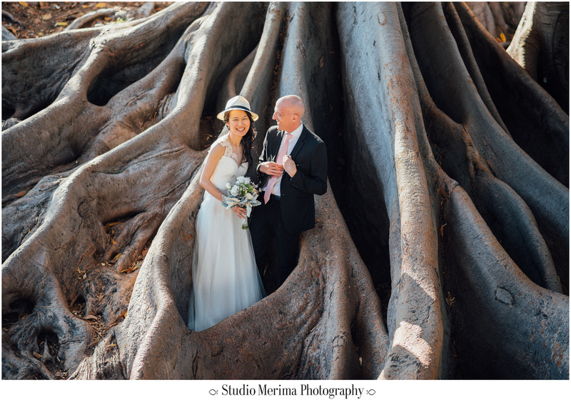 """balboa park wedding photography"", ""balboa park elopement"", ""laughing wedding photos"""