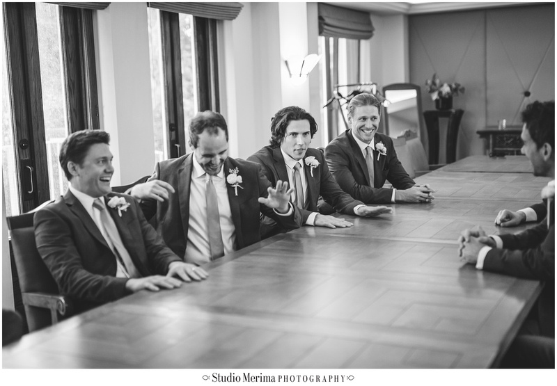 la jolla wedding photography, la valencia hotel wedding photography, groom's suite, groomsmen hanging out