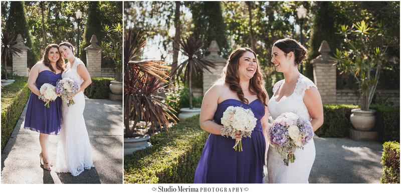 """Balboa Park Vintage Wedding"" ""Alcazar Garden Bridal Party Photography"""