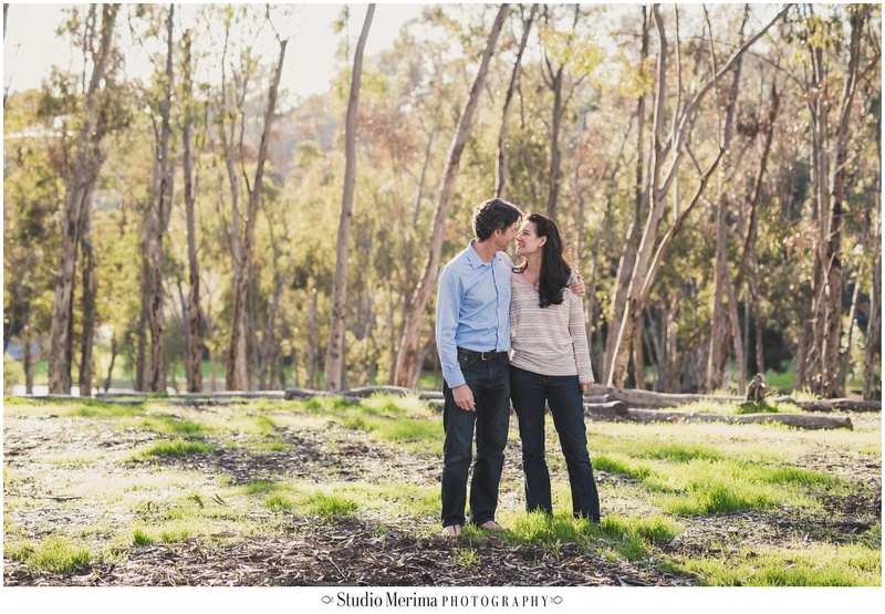 trees engagement photography, san diego couples photographer, morley field