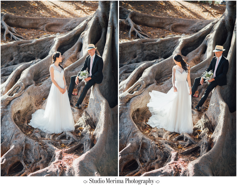 """balboa park wedding photography"", ""balboa park elopement"", ""stylish wedding photos"", ""san diego retro wedding photos"""