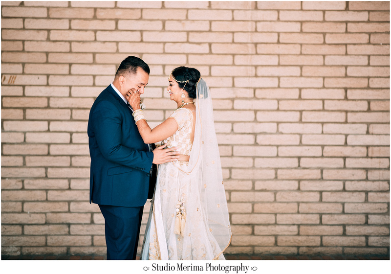 """indian wedding"", ""filipino wedding"", ""san diego wedding photographer"", ""studio merima"", ""rancho bernardo inn wedding"", ""first look tears"", ""first look"""