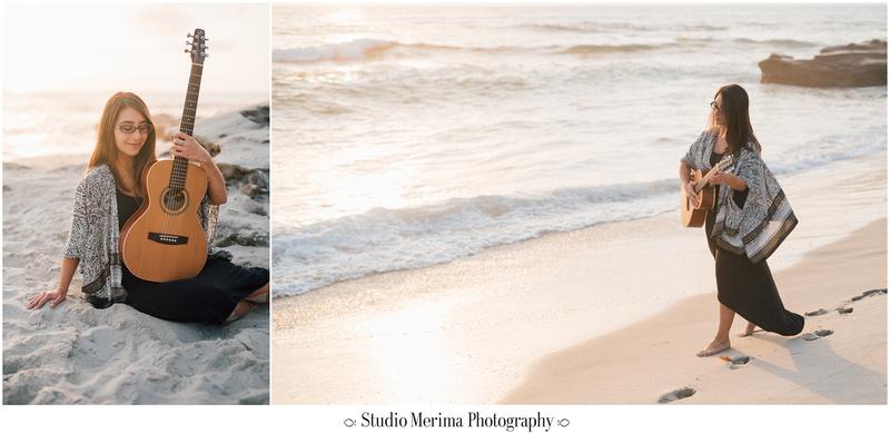 'windansea photography', 'san diego graduation photos', 'san diego photographer', la jolla photographer', 'portraits with guitar', 'music therapist headshots', 'beach headshots'