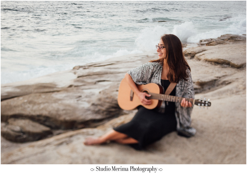 'windansea photography', 'san diego graduation photos', 'san diego photographer', la jolla photographer', 'portraits with guitar', 'music therapist headshots', 'beach headshots'