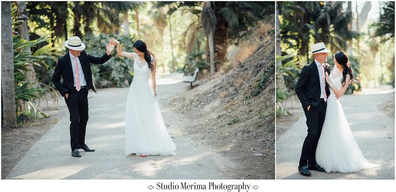 """balboa park wedding photography"", ""balboa park elopement"", ""dancing wedding photos"""