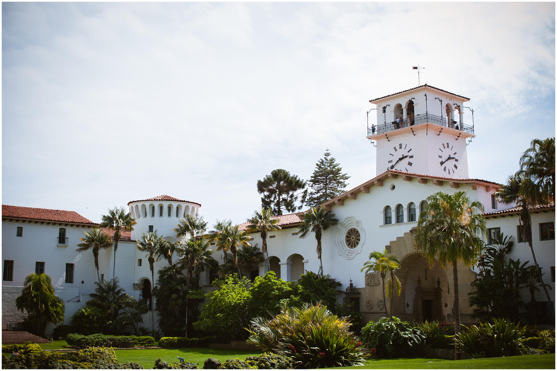 santa barbara elopement photography, san diego elopement photography, santa barbara courthouse elopement