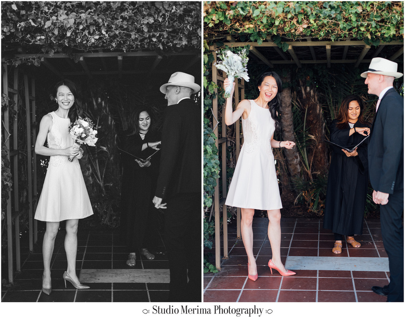 """""""san diego courthouse wedding"""", """"san diego elopement photography"""", """"outside san diego courthouse ceremony"""""""