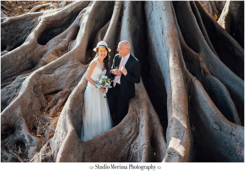 """balboa park wedding photography"", ""balboa park elopement"", ""laughing wedding photos"""