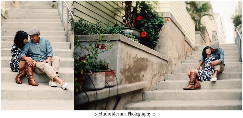 la jolla cove engagement, san diego engagement, la jolla stairs, stairs to la jolla cove